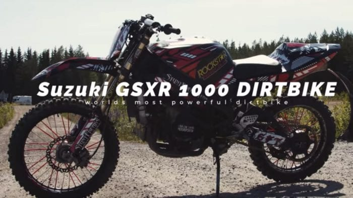 Suzuki GSX-R1000 dirt bike