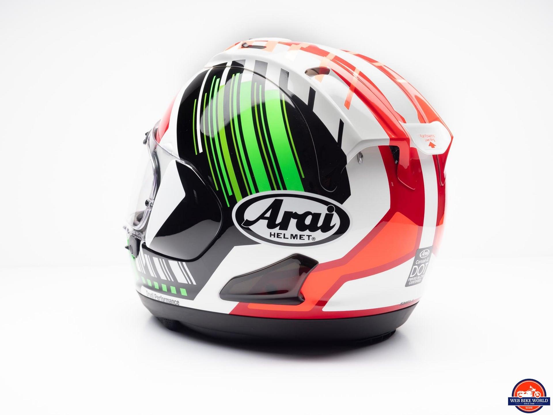 Arai Corsair-X Rea 5 Graphic Helmet rear