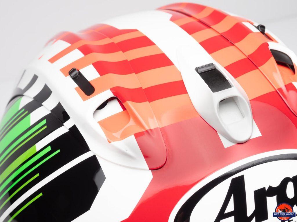 Arai Corsair-X Rea 5 Graphic Helmet top vents