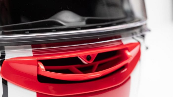 Arai Corsair-X Rea 5 Graphic Helmet chin vent