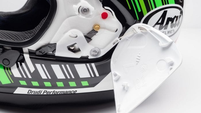 Arai Corsair-X Rea 5 Graphic Helmet side pods