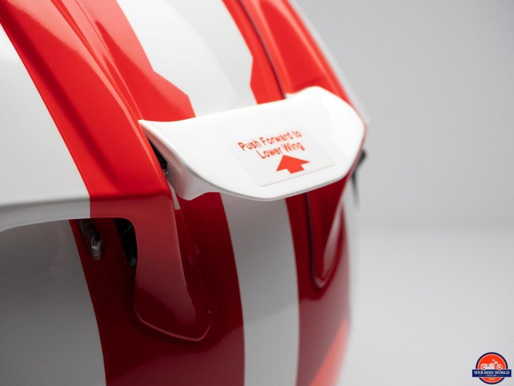 Arai Corsair-X Rea 5 Graphic Helmet adjustable rear spoiler