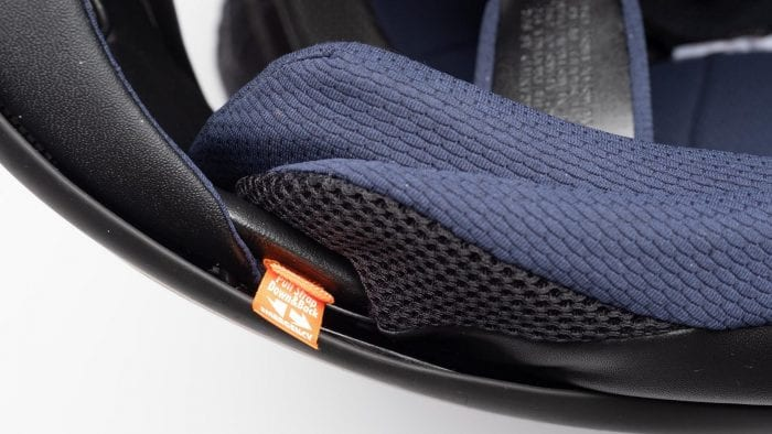 Arai Corsair-X Rea 5 Graphic Helmet emergency pull tab