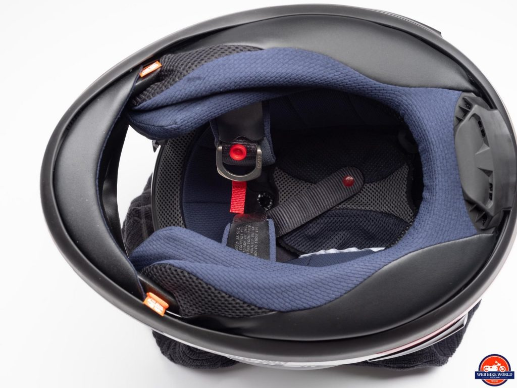 Arai Corsair-X Rea 5 Graphic Helmet chin curtain removed