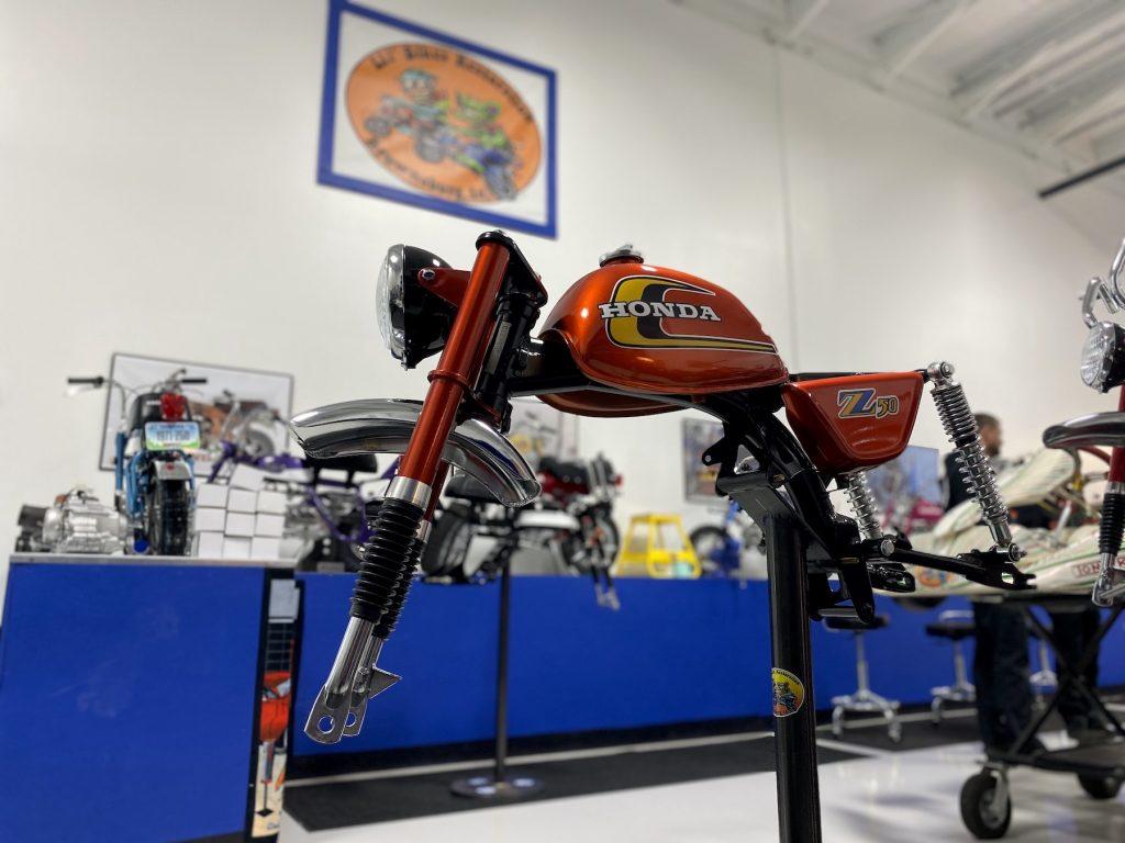 Honda Z50 in Lil' Bikes Restoration shop