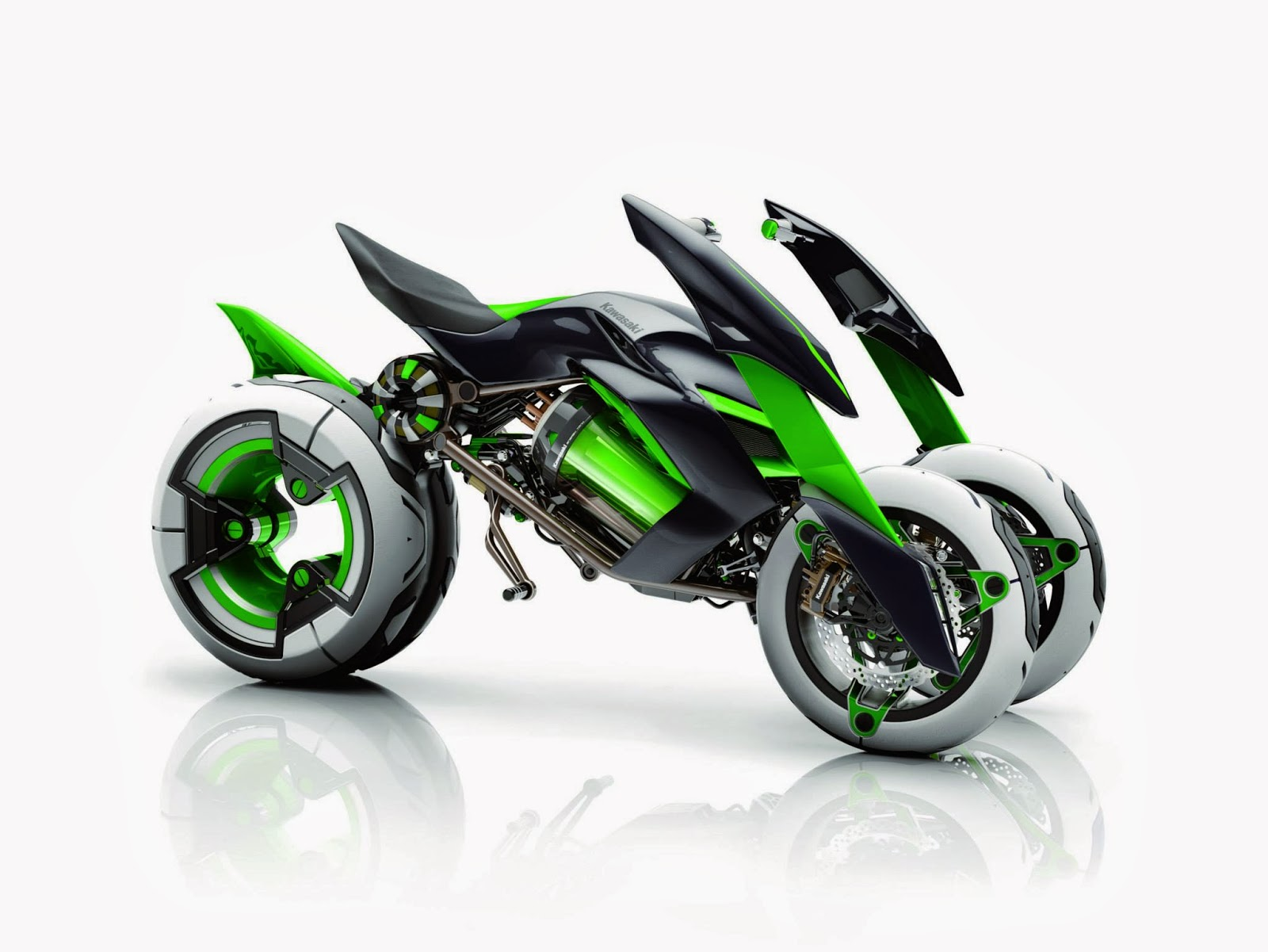 Kawasaki four-wheeled motorcycle