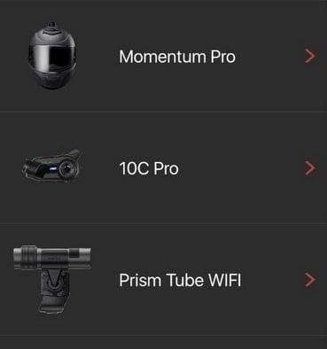 Sena 10C Pro Camera App