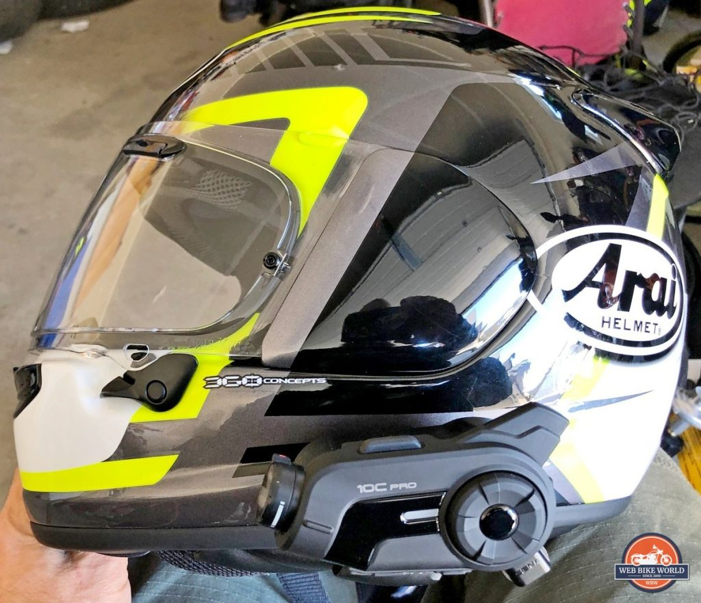 Sena 10C Pro installed on Arai DT-X