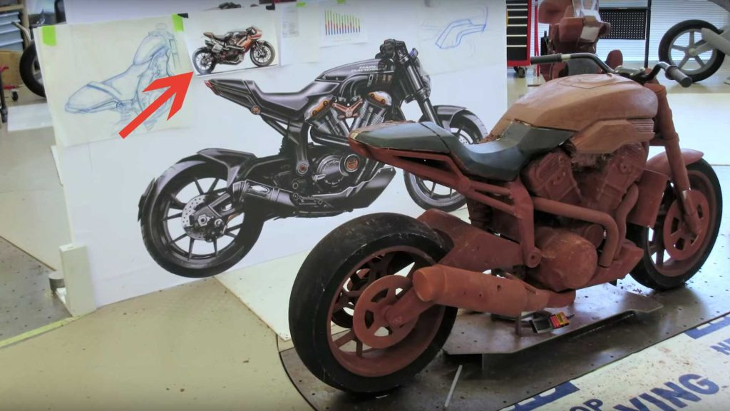 harley faired sportbike clay model