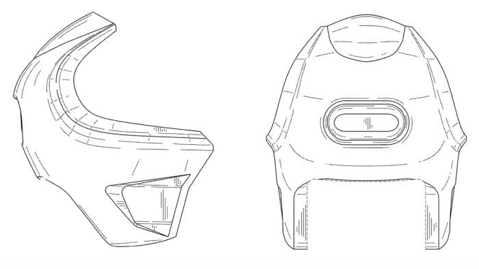 harley faired sportbike patent image