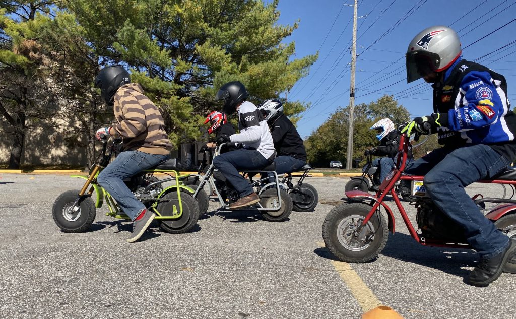minibike race start