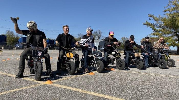 Minibike race winners