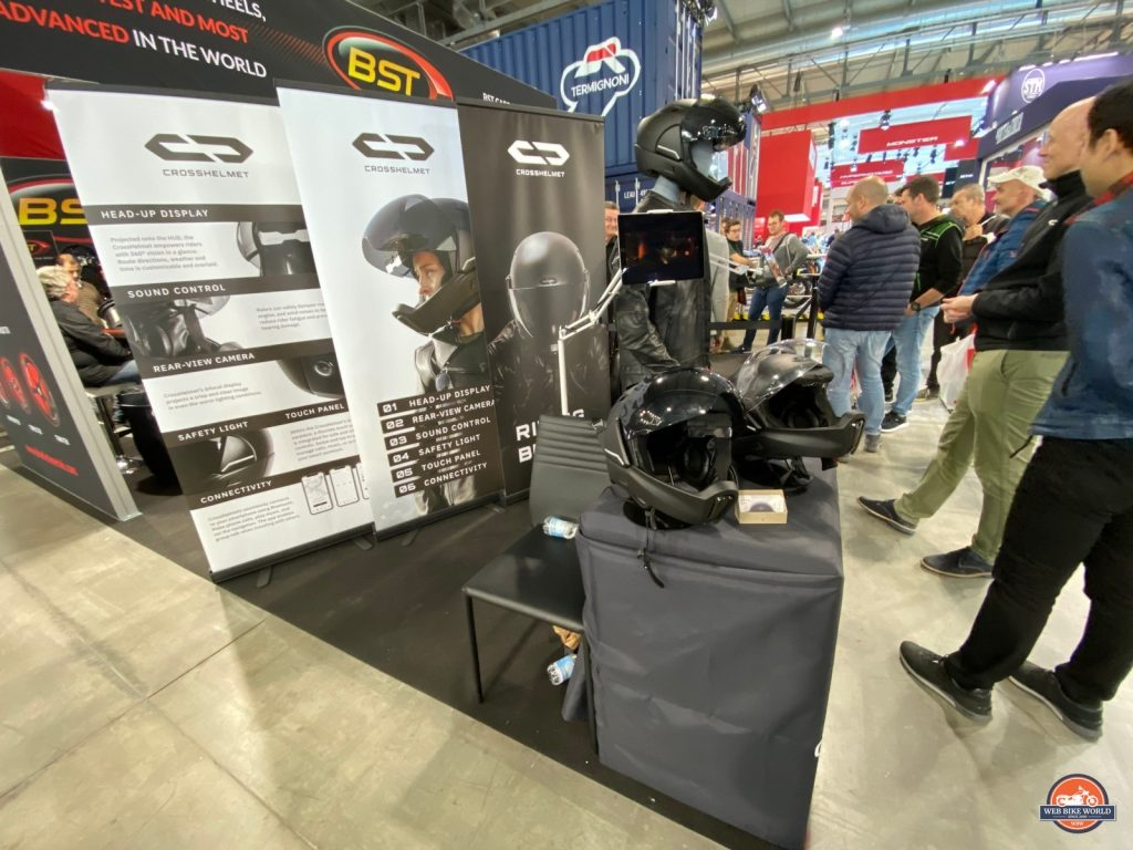 The Crosshelmet booth at EICMA 2019.
