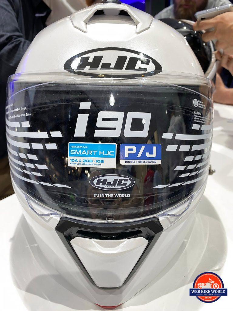 The HJC I90 Smart Helmet.