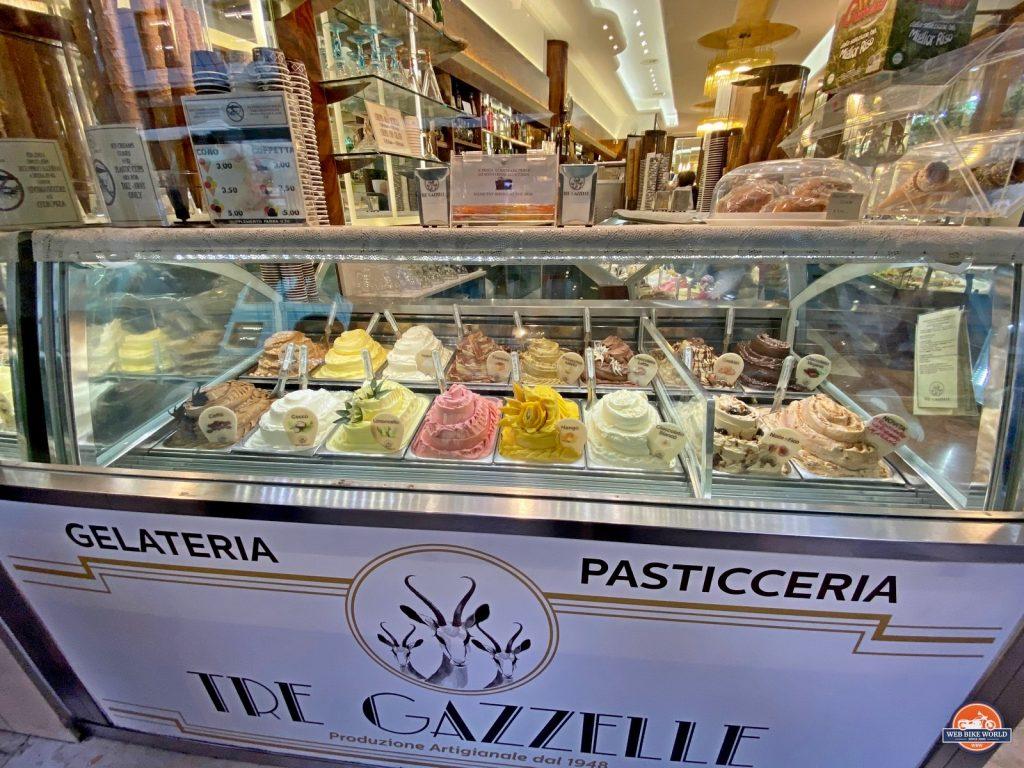 A gelato shop in Milan.