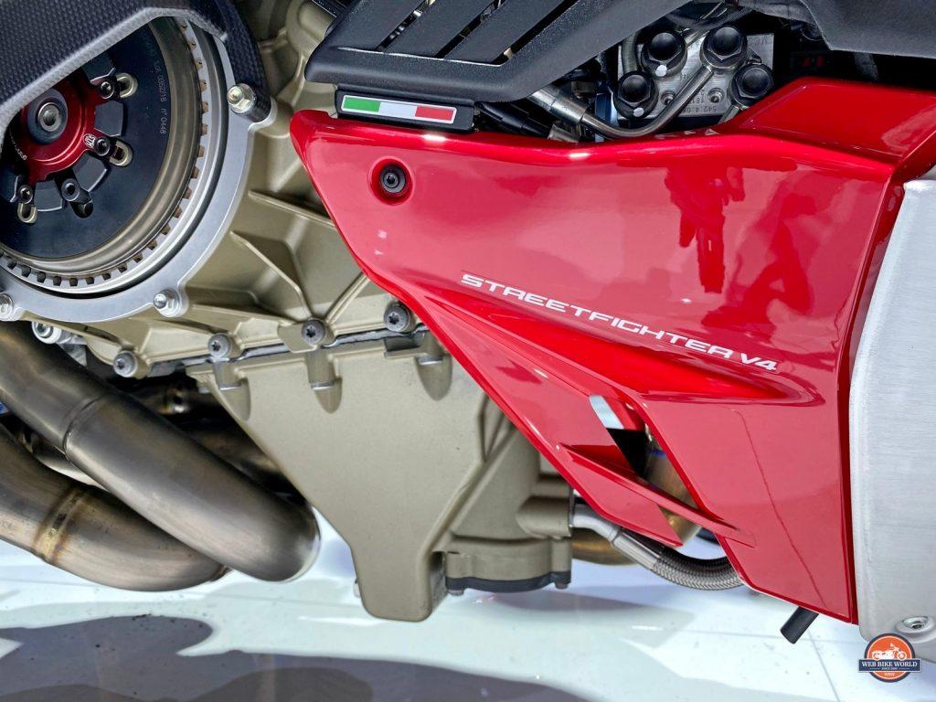 The Ducati Streetfighter V4S.