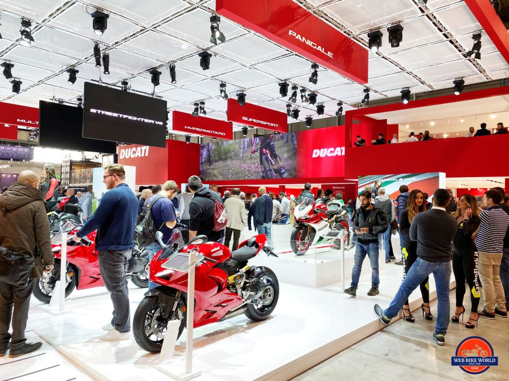 Ducati booth at EICMA 2019.