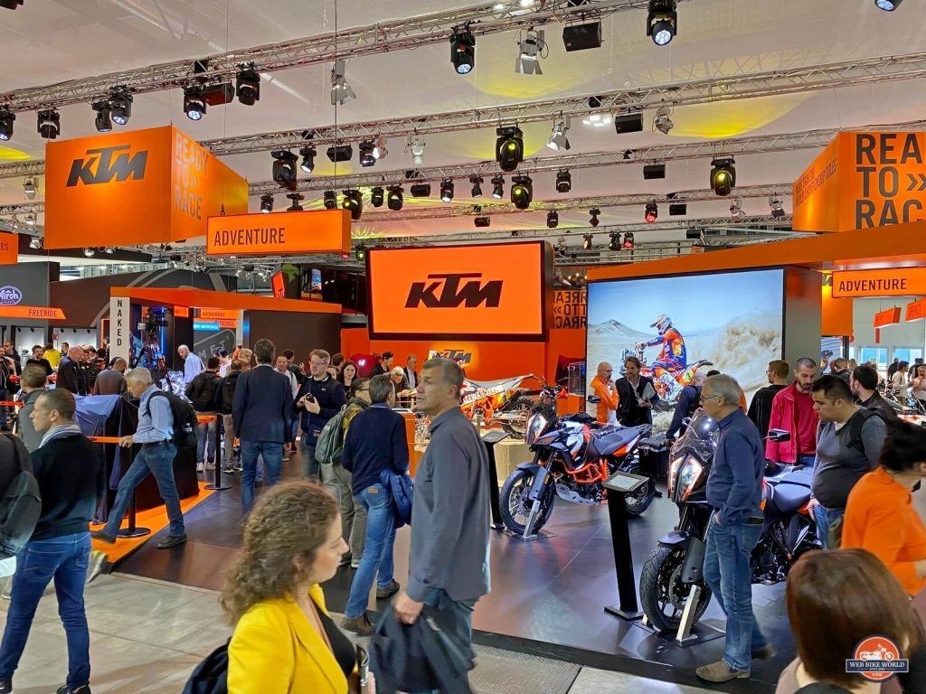 KTM booth at EICMA 2019.