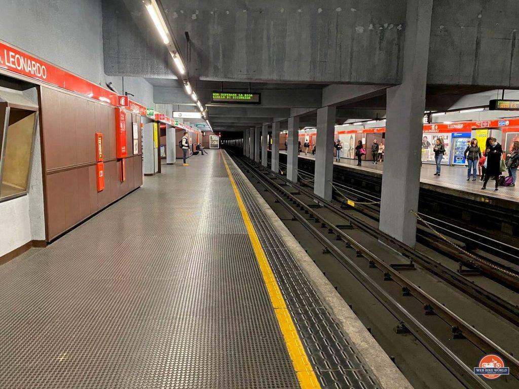 San Leonardo station in Milan's subway system.