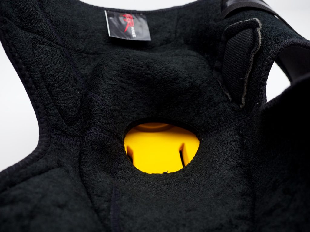 Forcefield AR Knee Protectors interior soft material and armor pocket