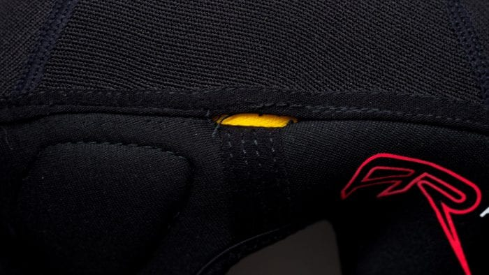 Forcefield AR Knee Protector stitching popped in left protector