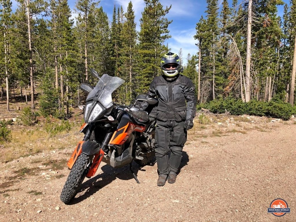 Me with my 2019 KTM 790 Adventure in Idaho.