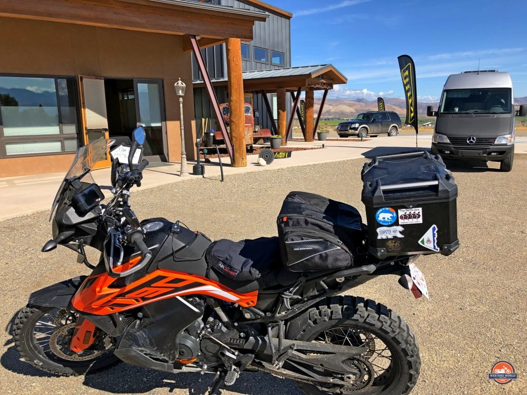 2019 KTM 790 Adventure in Challis Idaho at the Klim Cow Tagz Rally.