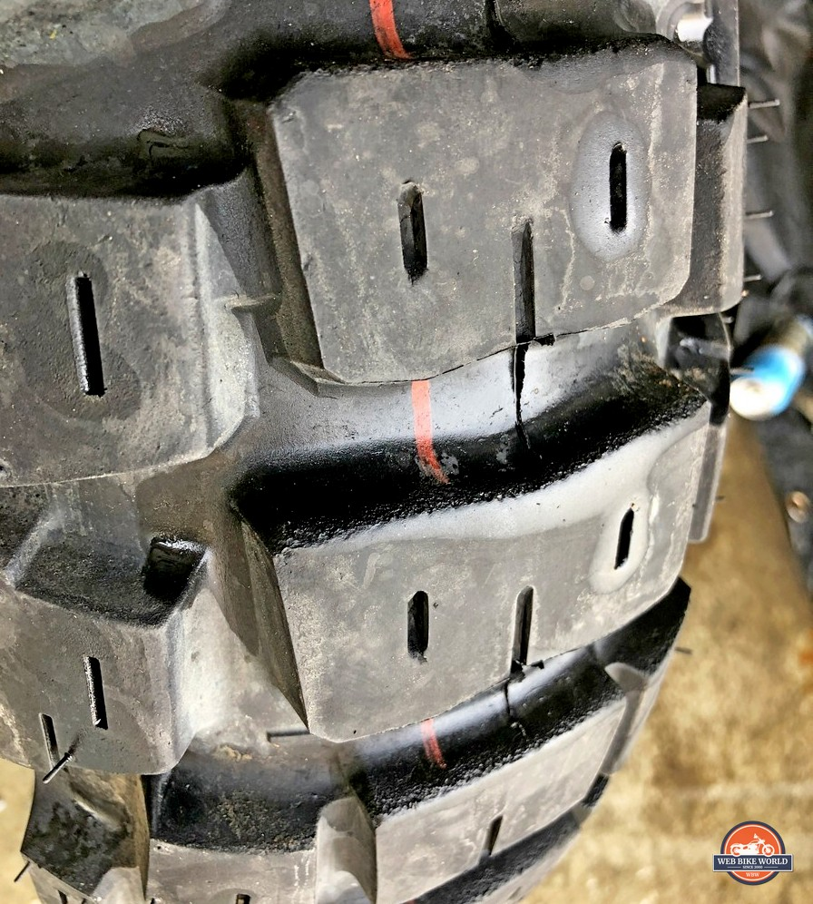 Motoz tractionator adventure rear tire after 2300 miles.