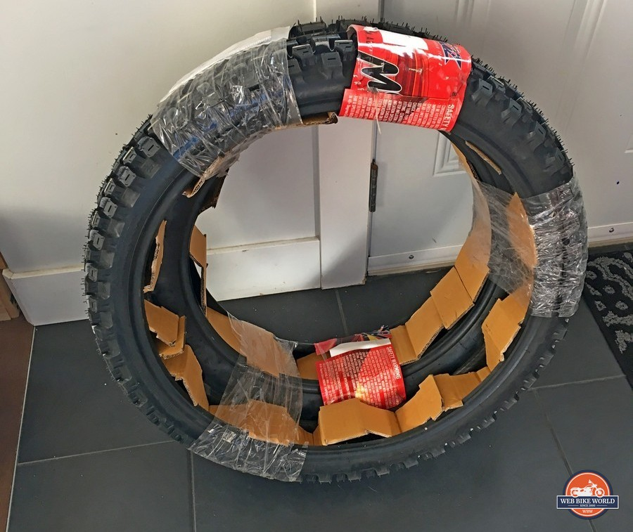 Brand new unmounted Motoz Tractionator Adventure tires.
