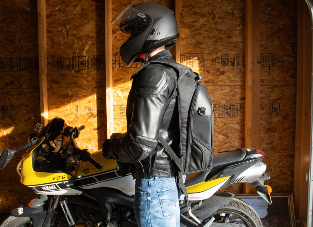 Viking Bags Motorcycle Backpack Side Profile