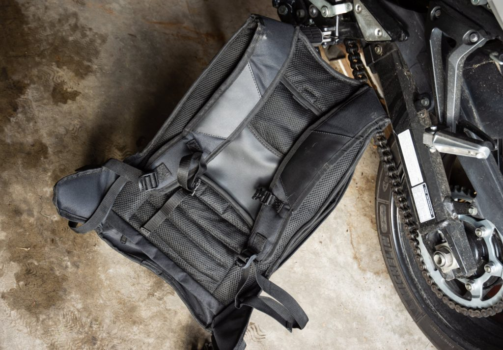 Rear panel of Viking Motorcycle Bag