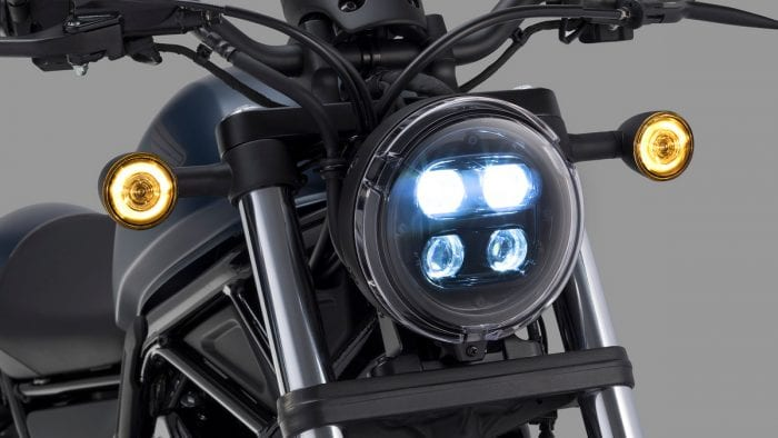 2020 Honda Rebel headlight low