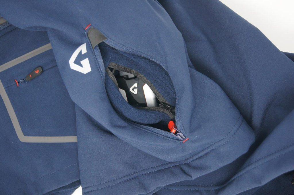 Gerbing Gyde 7V Heated Torrid Softshell Vest battery pocket