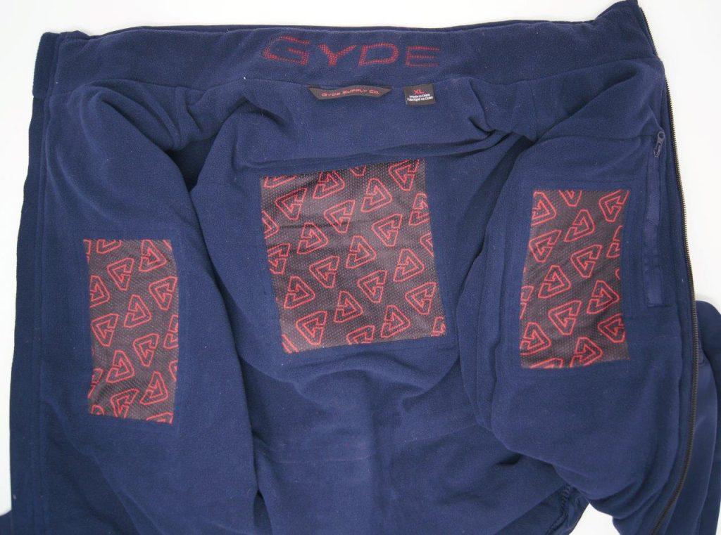 Gerbing Gyde 7V Heated Torrid Softshell Vest heating zones