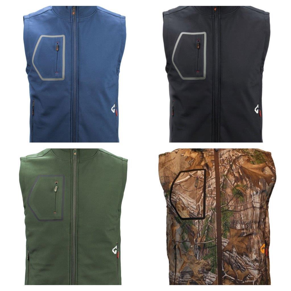 Gerbing Gyde 7V Heated Torrid Softshell Vest colorways