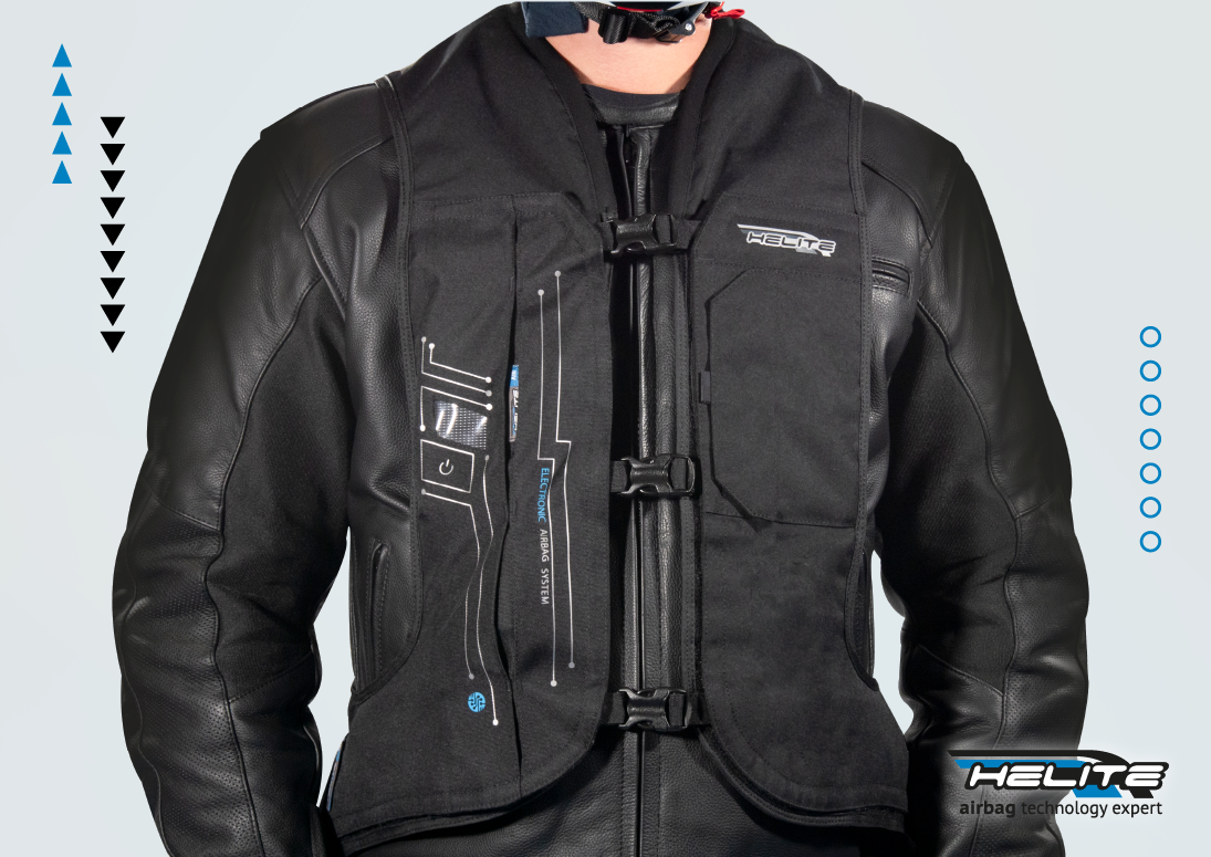 Helite electronic airbag vest technology
