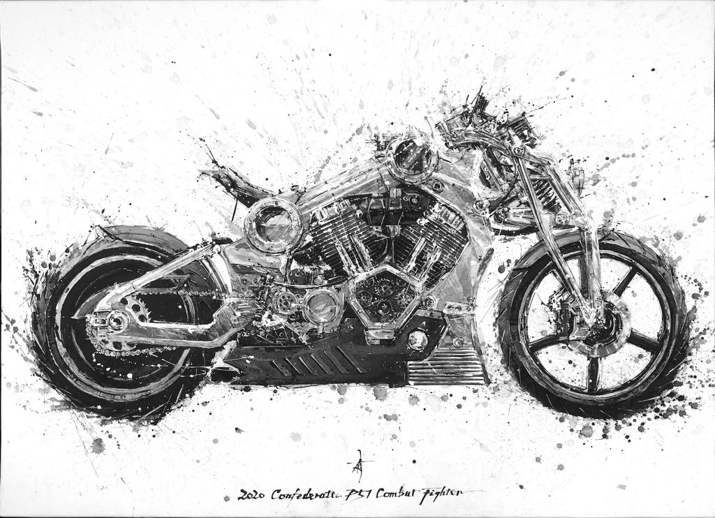 Confederate Motorcycles P-51 painting