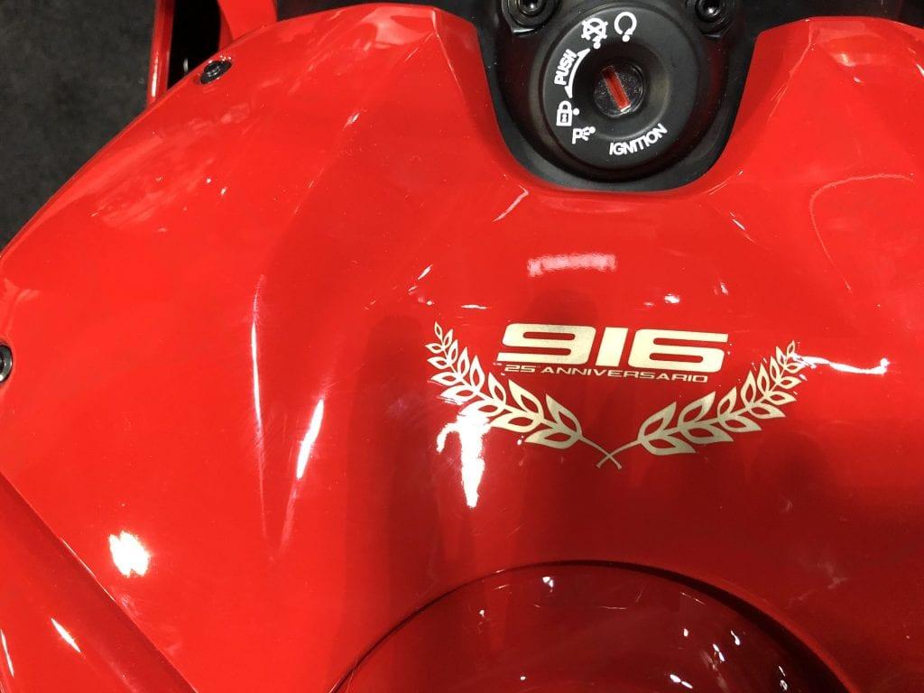 2020 Ducati Panigale V4 916 25th Anniversario Edition emblem
