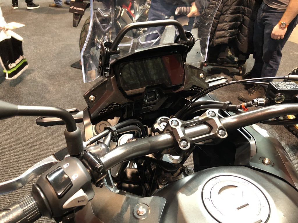2020 Honda CB500X dash and bars
