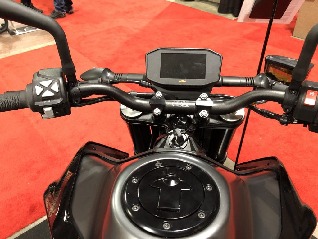 2020 KTM 790 Duke from the seat dash details