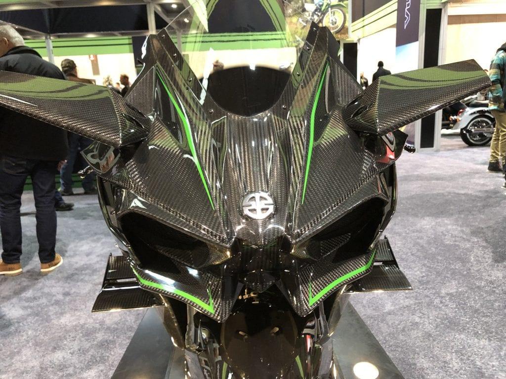 2020 Kawasaki Ninja H2R front detail and emblem