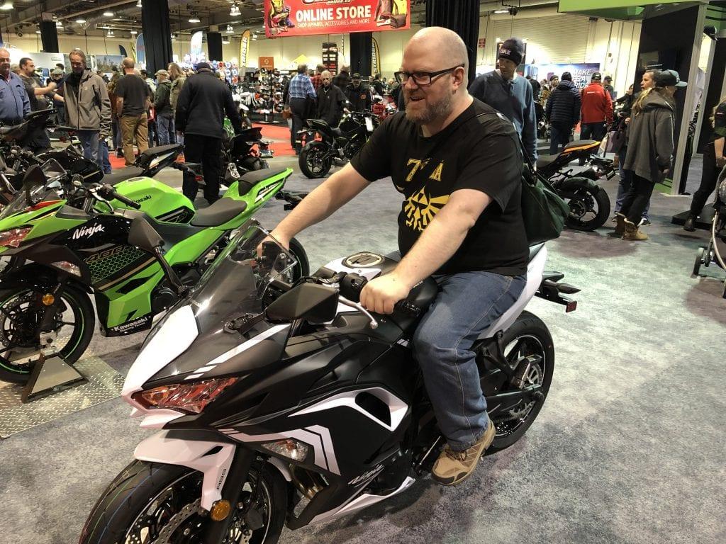 2020 Kawasaki Ninja 650 with a wBW writer on it