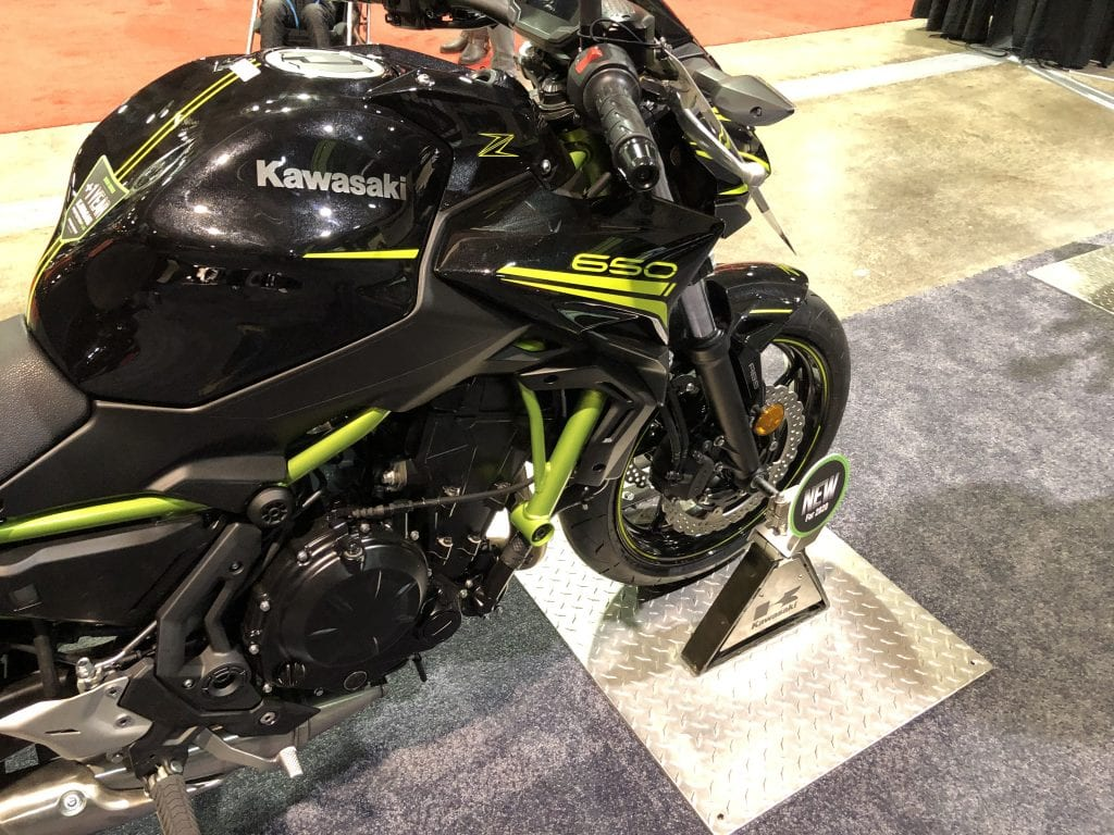 2020 Kawasaki Z650 front half side profile