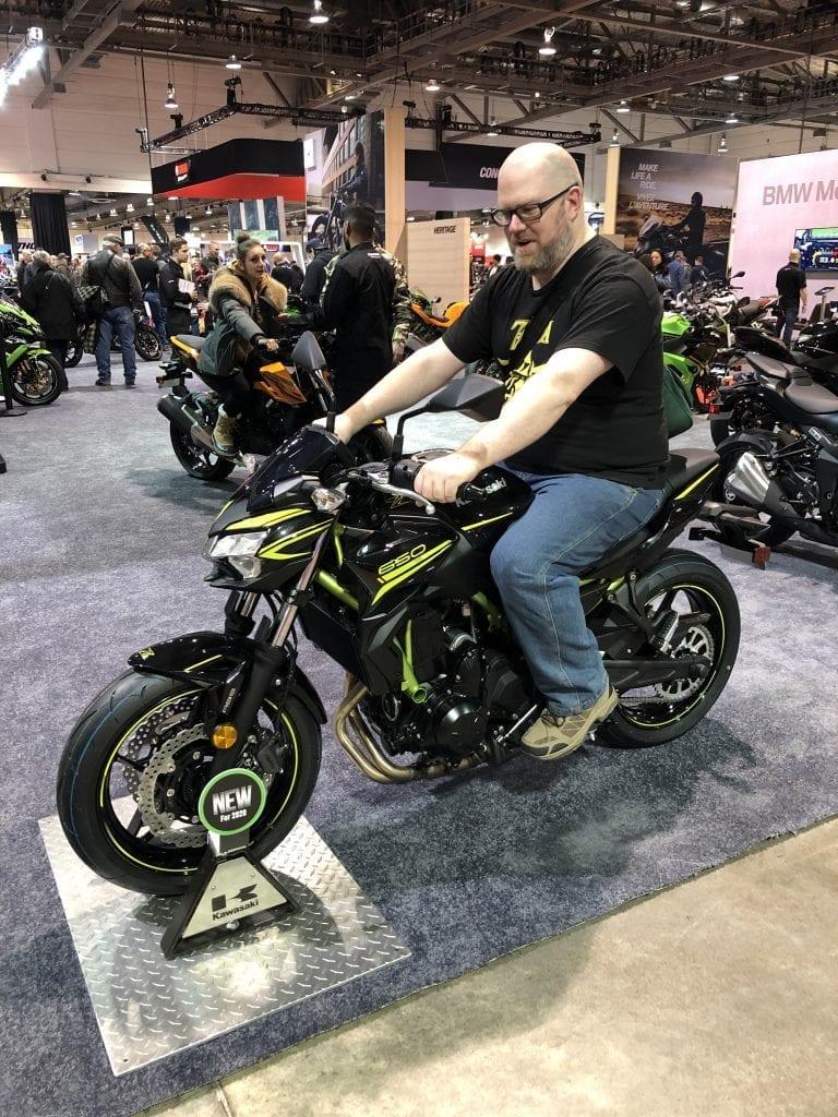 2020 Kawasaki Z650 with a wBW writer on it