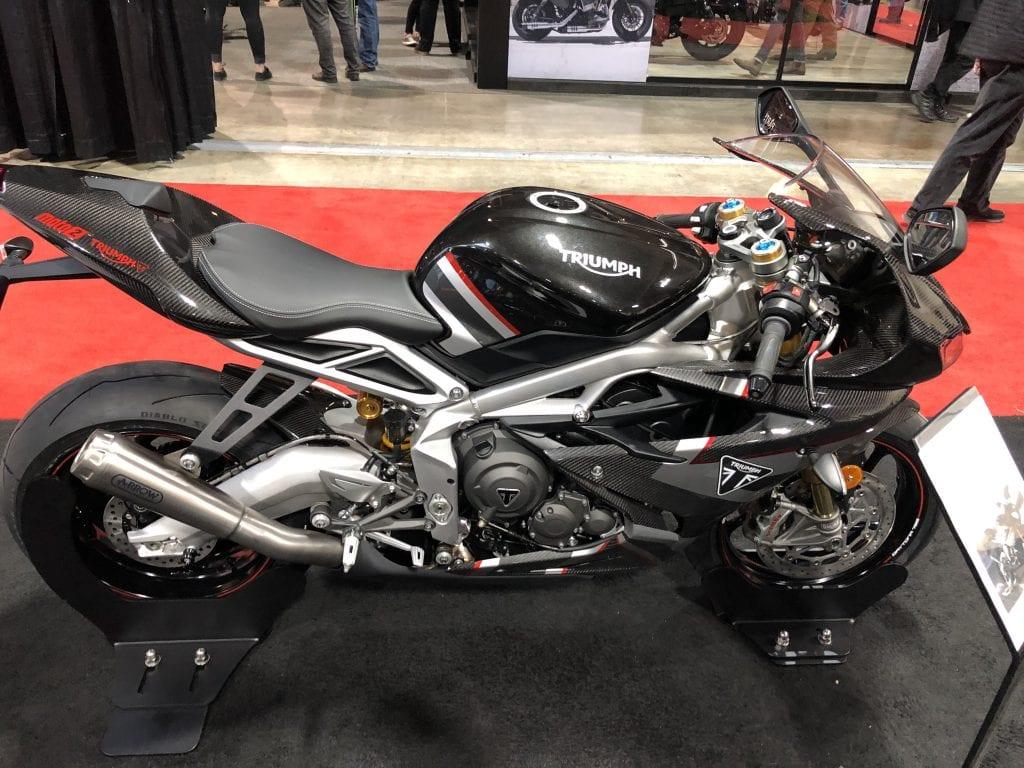 2020 Triumph Daytona 675 Moto2 side profile