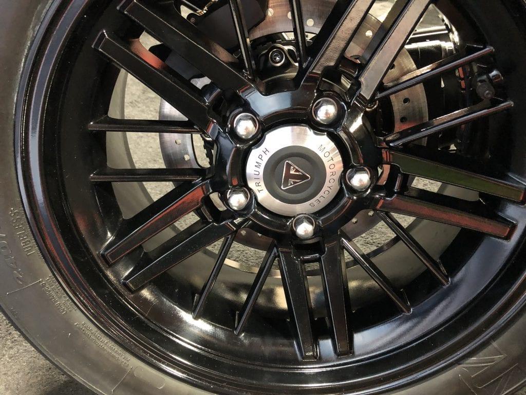 2020 Triumph Rocket 3 R rear wheel detail