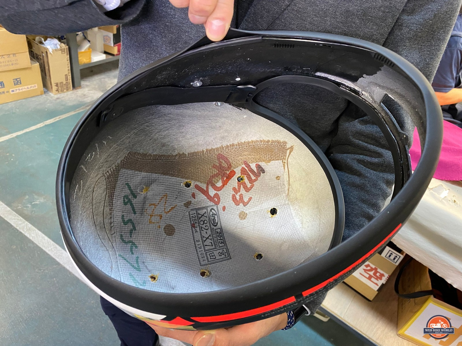 The double layer of rubber gasket used on every Arai helmet.