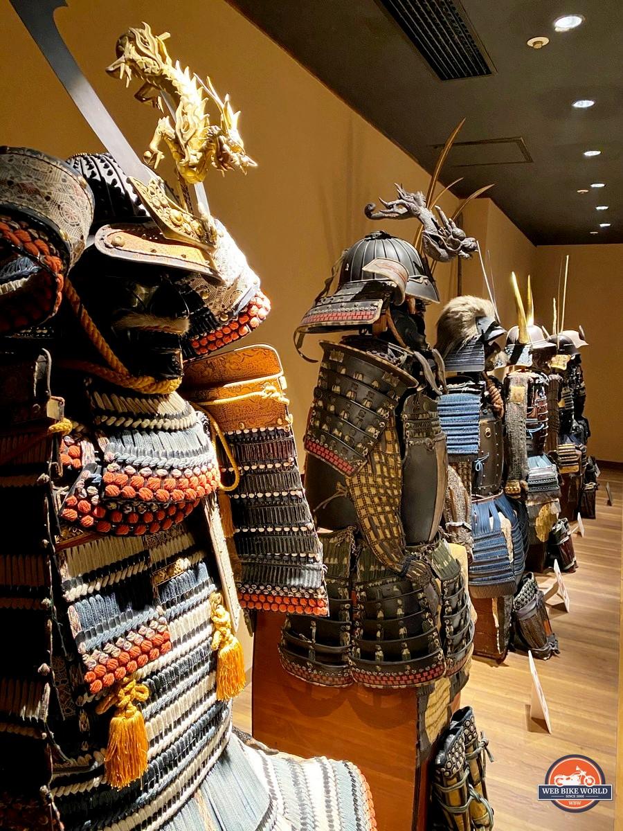 A collection of Samurai armour found at the Samurai museum in Shinjuku.