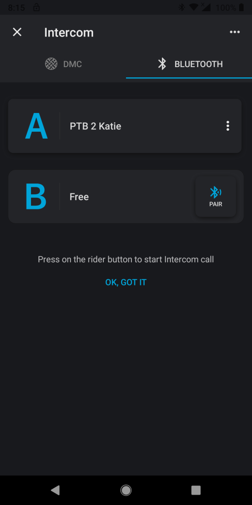 Cardo PT BOLD, Cardo Connect App, BT pairing can be done via the app as well