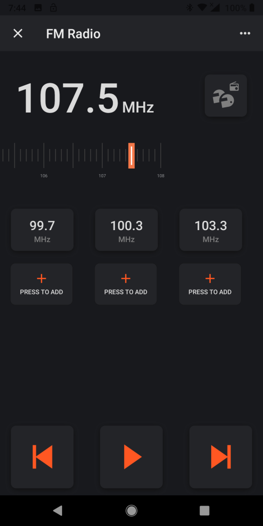 Cardo Connect App, FM radio settings
